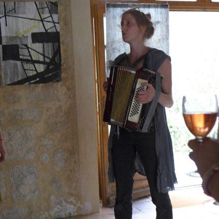 """vernissage, """"sortie de résidence"""" salle Abélia, labastide d'armagnac 2017"""