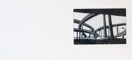 blandine galtier, gravures, estampes, non-toxic, nature morte, paysage urbain
