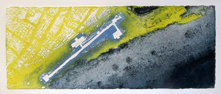 estampe, gravure, etching blandine galtier ©, paysage urbain