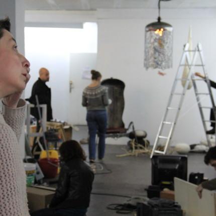 "montage exposition ""Hors de Nous"" espace29, iris, bamg gravure, blandine galtier"