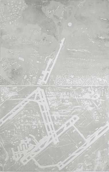 estampe, gravure, etching blandine galtier © , paysage urbain