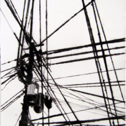 bamg* blandine galtier,estampe contemporaine, gravure, etching and emboss, japan, paysage urbain